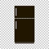Vektorsymbol av ett svart kylskåp Fotografering för Bildbyråer