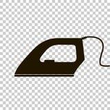 Vektorsymbol av svart järn med skuggadesign Royaltyfri Foto