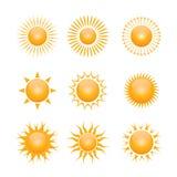 Vektorsymbol der Sonne Lizenzfreie Stockfotos