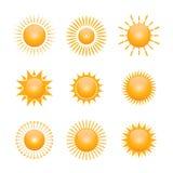 Vektorsymbol der Sonne Stockbild