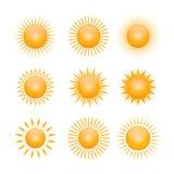 Vektorsymbol der Sonne Lizenzfreie Stockfotografie