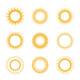Vektorsymbol der Sonne Lizenzfreies Stockfoto