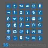 Vektorsymbol för industriell affär Royaltyfri Bild