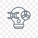 Vektorsymbol för ljus kula som isoleras på genomskinlig bakgrund, linea royaltyfri illustrationer