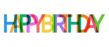 Vektorsymbol för lycklig födelsedag Berömkort med textlägenhetvect Arkivfoton