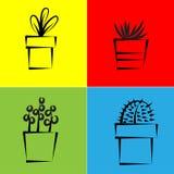 Vektorsymbol för växt Royaltyfri Bild