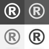 Vektorsymbol registreringstecken Uppsättning av registreringsteckensymbolen på whi royaltyfri illustrationer