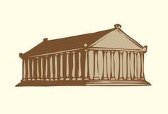 Vektorsymbole der sieben Wunder der Antike lizenzfreie abbildung