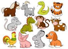 Vektorsymbole des chinesischen Horoskops Lizenzfreie Stockbilder
