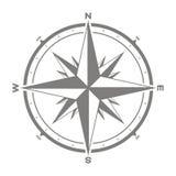 Vektorsymbolen med kompasset steg royaltyfri illustrationer