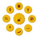 Vektorsymboler av öllock Royaltyfri Fotografi