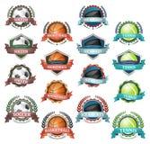 Vektorsymboler av mycket populära sportar Royaltyfria Bilder