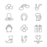 Vektorsymboler av St Patrick vektor illustrationer