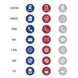 Vektorsymboler för affärskort på vit bakgrund royaltyfri illustrationer
