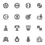 Vektorsymboler för kondition 16 och sport Arkivbild