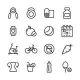 Vektorsymboler för kondition 16 och sport Royaltyfria Bilder