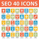 Vektorsymboler för SEO 40 Royaltyfri Fotografi