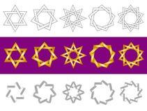 Vektorsymboler som stjärnor Arkivbilder
