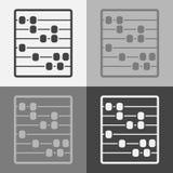 Vektorsymbolsuppsättning av kulrammet Träkulram för att lära det kontot Arkivbild