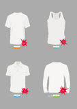 Vektort-shirt Auslegungs-Schablone Lizenzfreie Stockfotos