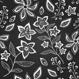 Vektortafelnahtloses Blumenmuster Lizenzfreies Stockbild