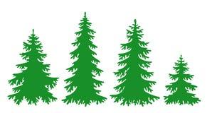 Vektortannenbäume Lizenzfreie Stockfotos