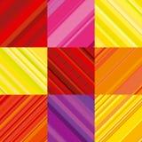 Vektortapet med det färgrika bandet Arkivbild
