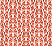 Vektortappning Art Deco Seamless Pattern Krabb textur med cirklar Retro stilfull bakgrund Royaltyfria Bilder