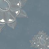 Vektortappningbakgrund med blom- element Arkivbilder