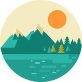 Vektortappningbakgrund med naturen, skog vektor illustrationer