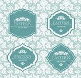 Vektortappningsamling: Barock- och antikvitetramar, etiketter, emblem och dekorativa designbeståndsdelar vektor illustrationer