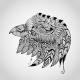 Vektortatuering Eagle Head Royaltyfria Bilder