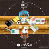 Vektorteamarbeit Geschäftsbrainstorming und -sitzung Stockfoto