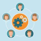 Vektorteamwork-Konzept in der flachen Art Lizenzfreies Stockfoto