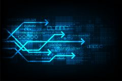 Vektortechnologie, die digitale Kommunikation darstellt Lizenzfreies Stockfoto