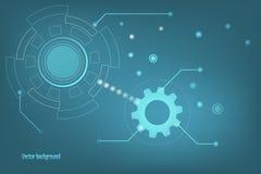 Vektortechnologie-Konzepthintergrund Stockfoto