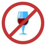 Vektortecken ingen alkohol Arkivbilder