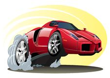 Vektortecknad film Sportcar Arkivbild