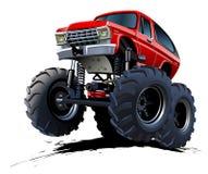 Tecknad filmmonster åker lastbil Arkivfoto