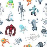 Vektortecknad filmrobotar modell eller bakgrundsillustration stock illustrationer