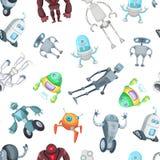 Vektortecknad filmrobotar modell eller bakgrundsillustration vektor illustrationer