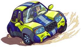 Vektortecknade filmen samlar bilen som ut rotera eller driver Royaltyfria Foton