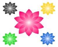 Vektorteckning av färger, logo royaltyfri illustrationer