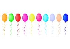 Vektorteckning med ljusa ballonger på vit bakgrund royaltyfri illustrationer