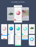 Vektortelefon GUI Template royaltyfri illustrationer