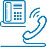 Vektortelefon- und -telefonempfängerabbildung Stockfotos