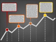 Vektortillväxtdiagram med kommentarer Royaltyfri Foto