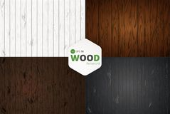 Vektorträ texturerar gammala paneler för bakgrund Textur för retro tappning för Grunge trä, vektorbakgrund Royaltyfri Foto