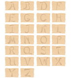 Träalfabet Arkivbild