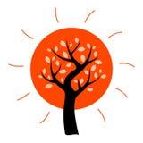 Vektorträd Arkivbild